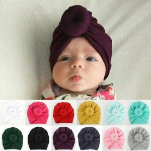 Details About Kids Girls Baby Toddler Turban Knotted Bow Hat Cap Headband Hair Band Headwear