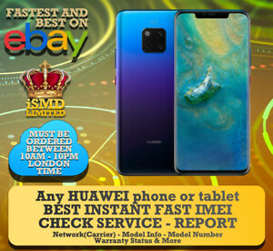 Details about INSTANT FAST HUAWEI IMEI NETWORK CARRIER BLACKLIST CHECK  SERVICE CHECKER