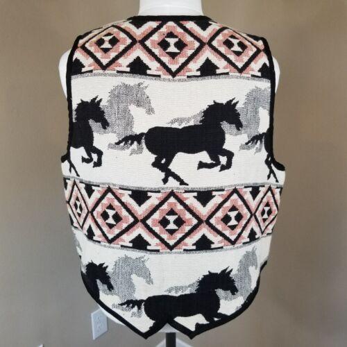 Cotton Gilet Medium Western Equestrian Womens senza New maniche Top Identity Horses O7qZEw8