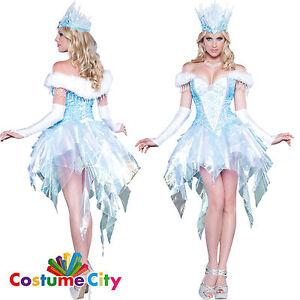 Image is loading Womens-Ladies-Deluxe-Christmas-Frozen-Ice-Sexy-Snow-  sc 1 st  eBay & Womens Ladies Deluxe Christmas Frozen Ice Sexy Snow Queen Fancy ...