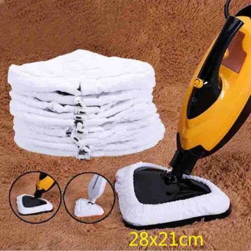 White Color Microfiber Replacement Pad Washable Reusable Cloth For Steam Mop