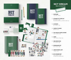 2019-NCT-DREAM-BACK-TO-SCHOOL-KIT-ID-Card-Photo-Charm-Pencil-Sticker-Pouch-etc