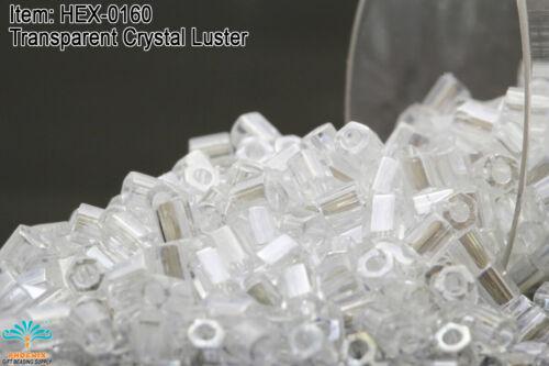 Miyuki Hexagon 2 Cut 11//0 Transparent Crystal Luster Hex-0160