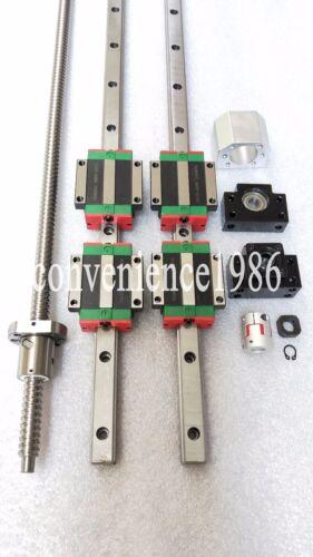 HGR20-1200mm Hiwin Liner rail /& HGW20CC /&RM2005-1200mm Ballscrew/&BF15//BK15 Kit