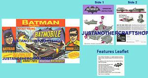 Instruccion-Batimovil-Corgi-Toys-267-Batman-Folleto-amp-Poster-Anuncio-Cartel-De-Tienda