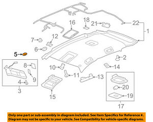 aadff8f0a06 Image is loading GM-OEM-Interior-Roof-Sunvisor-Cover-Plate-20882336