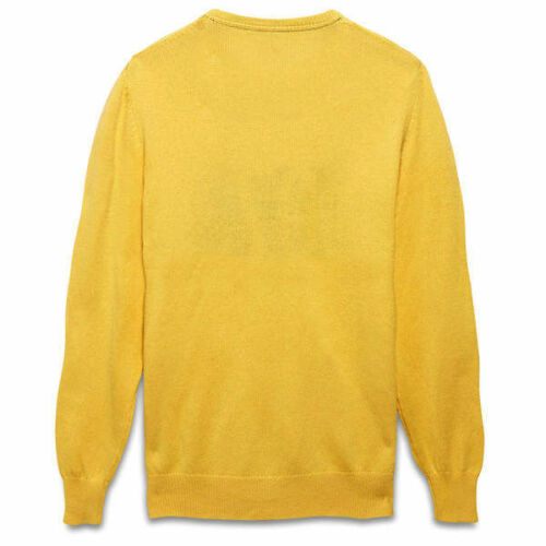 Slim Yellow Knox £85 Jumper Intarsia River Rrp Crew Yolk Sweater Fit Timberland 8Hxq0x