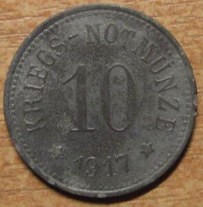 Germany-Notgeld-Token-Cham-10-pfennig-1917