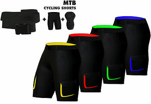 Radfahren Baggy Shorts Off Road Cycle Bike Fahrrad Gel gepolsterte kurze Hose