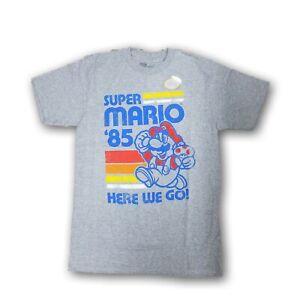 Nintendo-Super-Mario-Bros-034-Super-Mario-039-85-034-Men-039-s-Gray-Short-Sleeve-T-shirt-NWT