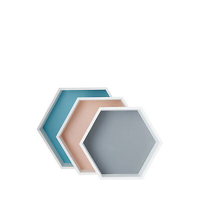 NEW Vue Infusion Hexagon Storage Boxes, Set of 3