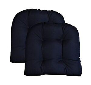 set of 2 u shaped wicker chair seat cushions large tufted sunbrella