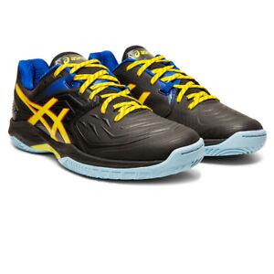 Asics-Homme-Blast-FF-Interieur-Cour-Chaussures-Noir-Jaune-Sports-Squash-Badminton