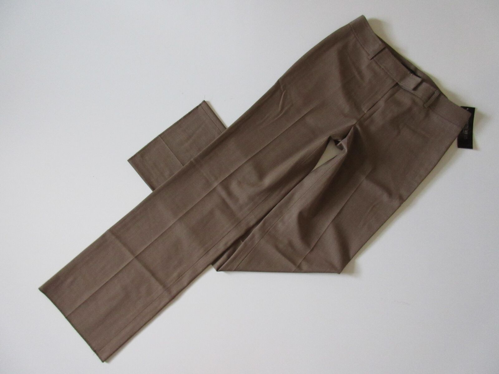 NWT Lafayette 148 Menswear in Taupe Lightweight Stretch Wool Trouser Pant 4