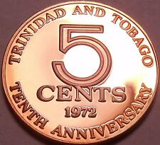 Trinidad & Tobago 5 Cents, 1972, 10th Anniversary of Independence