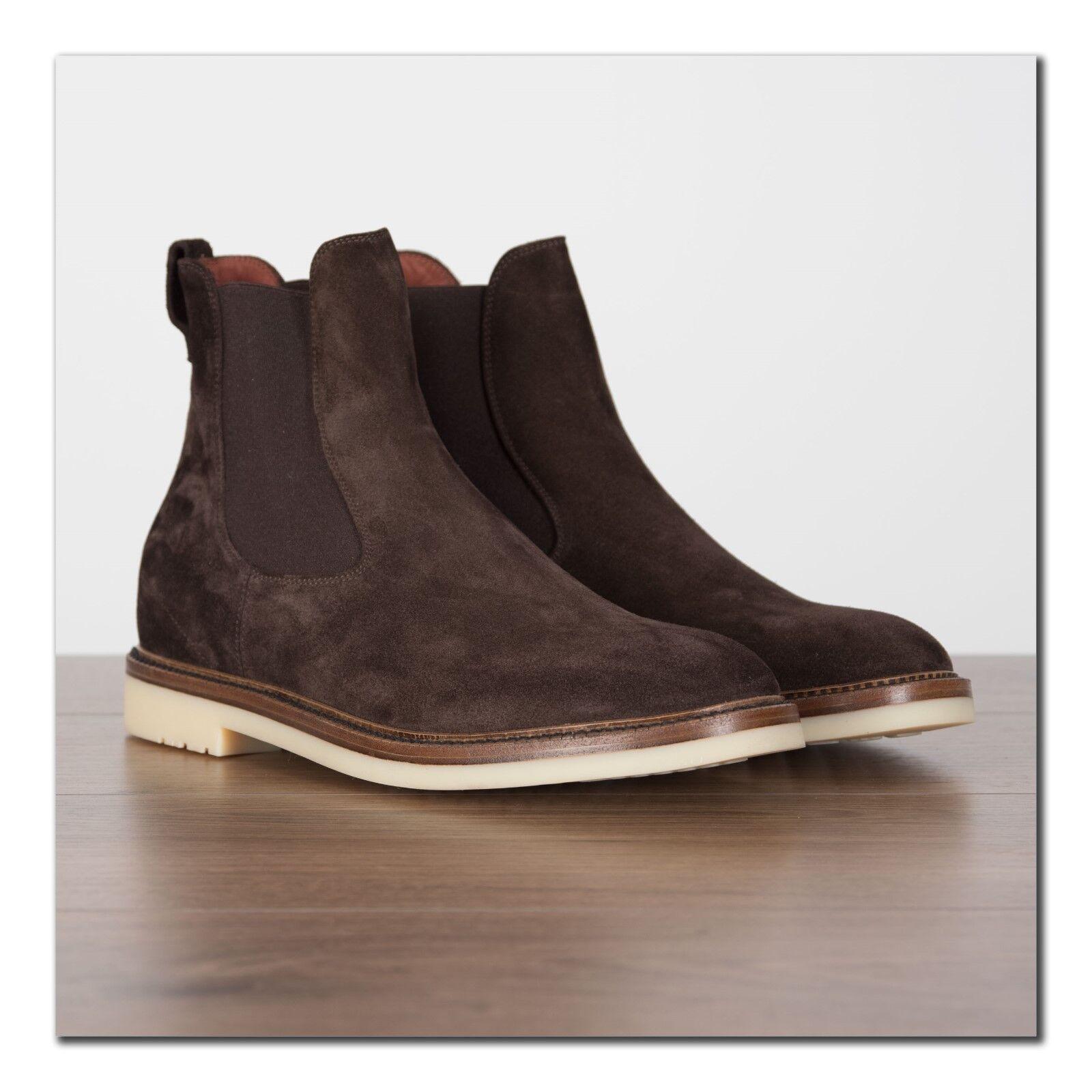 Loro PIANA 1625  Invierno Beatle caminar en piel de becerro ante marrón chocolate