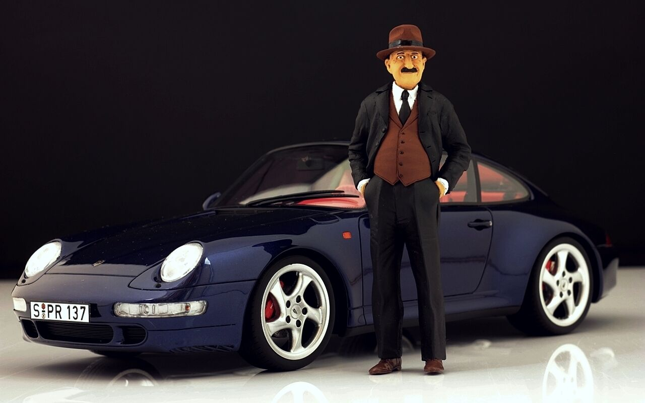 Ferdinand Porsche personaggio per 1:18 GT Spirit 964 RWB VERY RARE
