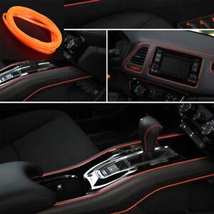 Details about 5M Orange Door Panel Gap Trim Molding Moulding Strip Line Red  For Car Accessory
