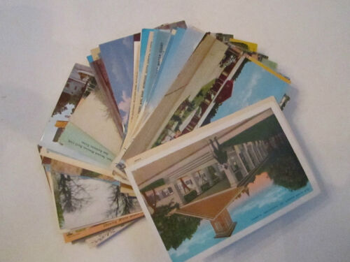 100+ VINTAGE U.S. POSTCARDS UNSEARCHED USED 1907 & UP LOT 10 TUB ABC