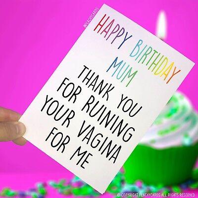Joyeux Anniversaire Maman Carte De Vœux Vagin Cadeau Amusant Humour