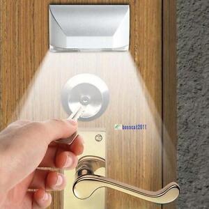 PIR-Wireless-Auto-Infrared-IR-Sensor-Motion-Detector-Keyhole-4-LED-Light-lamp-BA