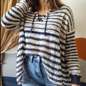 Free-People-Small-Judy-Punk-Striped-Lace-Up-Sweater-Oversized-Shaggy-Top-Shirt