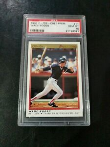 1991 O-PEE-CHEE Premier Wade Boggs PSA Gem Mint 10