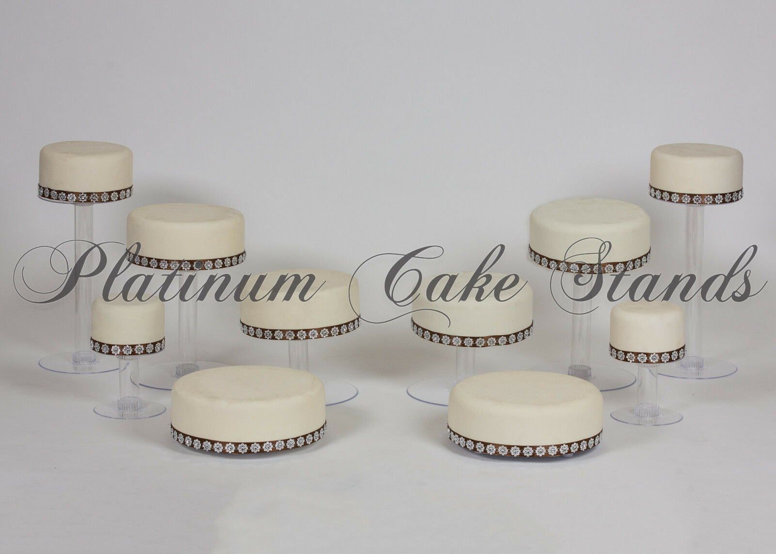 10 Tier Cascade Wedding Cake Cupcake Stand (style R807)