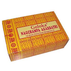 Bastoncini-d-039-incenso-192g-Goloka-Nag-Champa-Agarbathi-Decorazione-Meditazione