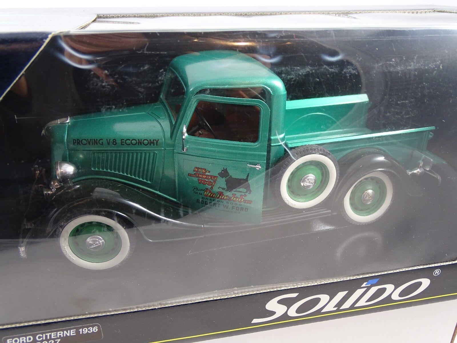 1 18 Solido  8027 1936 Ford Citerne Citerne Ford Proving V8 Economia Rarità § 440ff9