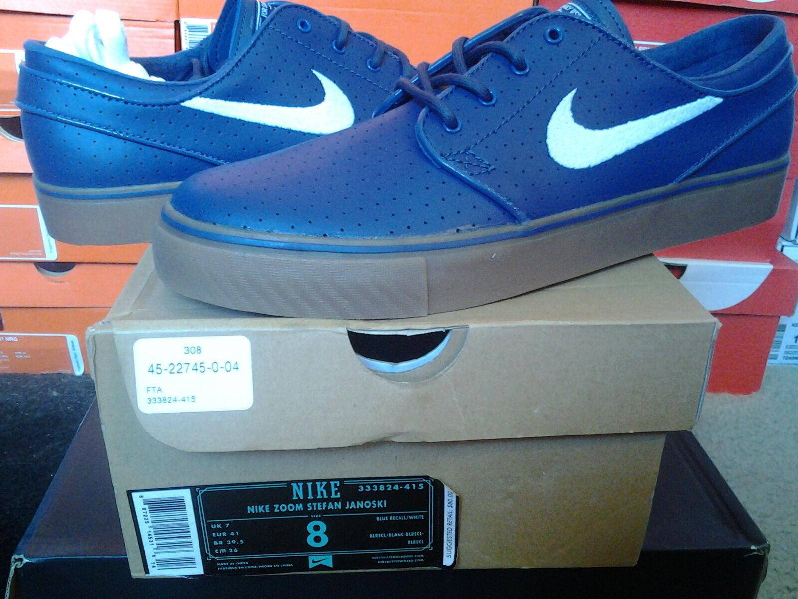Nike Air Zoom Stefan Janoski SB Perf Blue Recall White Gum dunk max 1 333824 415