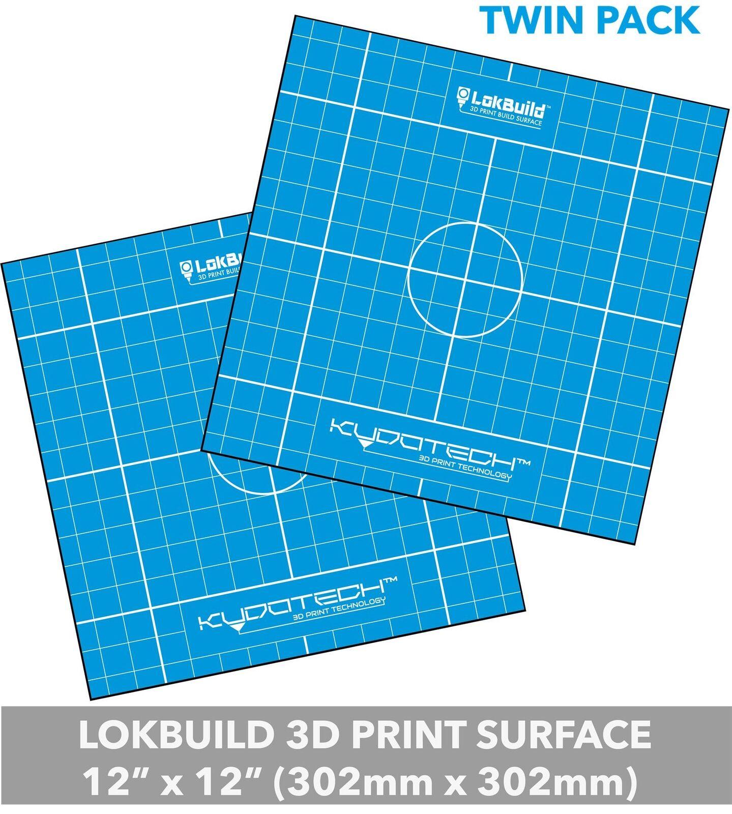 PACK OF 2 x LokBuild : 3D Print Build Surface - 295x295mm