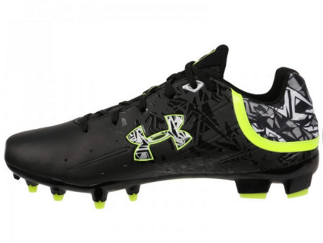 0b3a67c6c59f Men's Under Armour Banshee Mid MC Lacrosse Football Cleats Black NIB 9  1250088