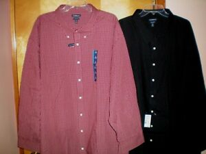 NWT-NEW-mens-size-22-CROFT-amp-BARROW-easy-care-dress-shirt-l-s-free-shipping