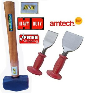 Guarded Brick Bolster Set Gloves Demolition Striking Kit Club /& Brick Hammer