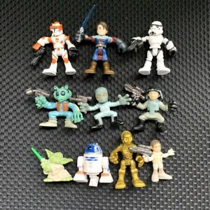 Lot-10x-Playskool-Star-Wars-Galactic-Heroes-Yoda-Stormtrooper-GREEDO-figures-toy