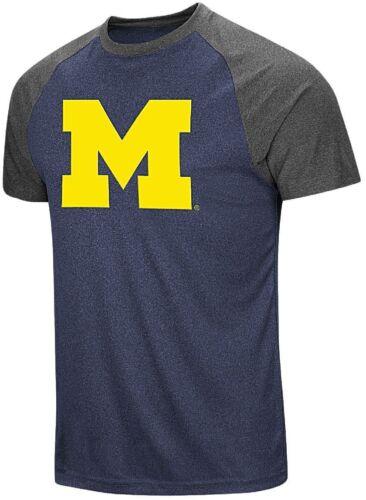 Michigan Wolverines Mens The Heat Raglan Polyester Short Sleeve T Shirt