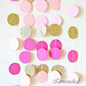 2-M-cercle-papier-Garland-String-Bunting-Mariage-Fete-Baby-Shower-pendaison-decoration