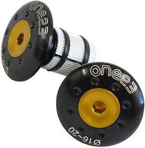 One23-MTB-Bicycle-Bike-Alloy-Handlebar-End-Plug-Plugs-Caps-Inserts-Black-Gold