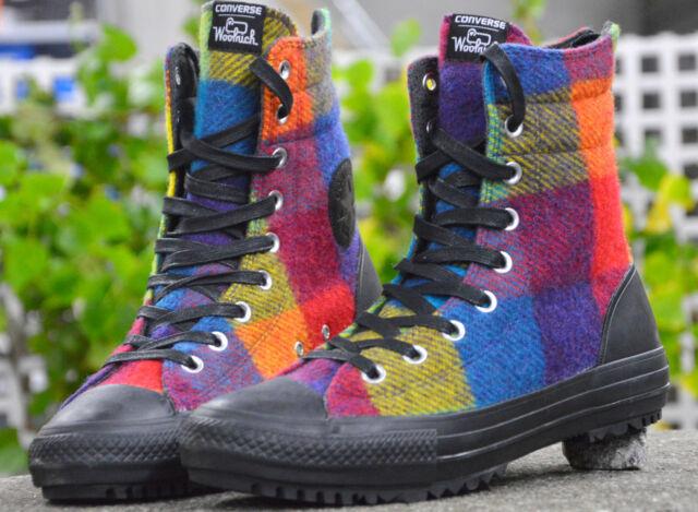 Converse All Star Chucks Damenschuhe High Rise Boot Woolrich Winterschuhe