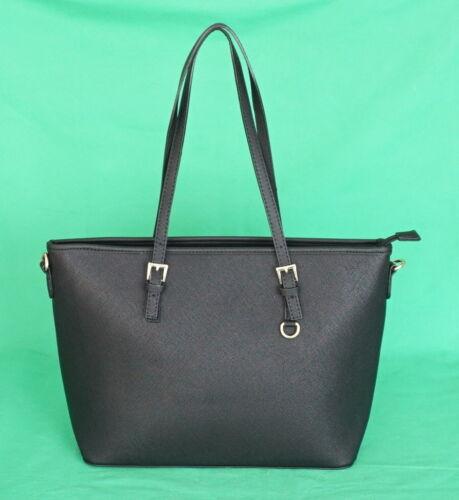mittel neu Shopper Tasche Handtasche Schwarz bags woman Schultertasche gross