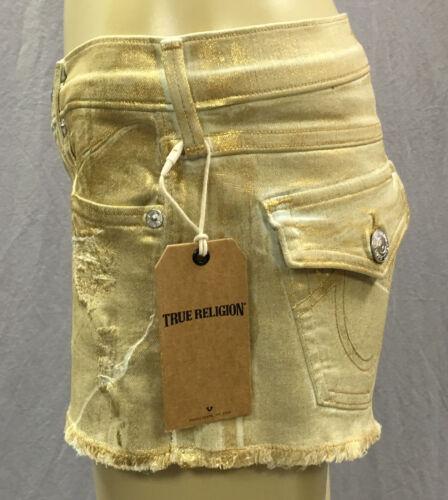 oro con Pantalone in off con cut taglio Sz 28 Joey True 218 Jeans cerniera Religion New nwFBx04qYx