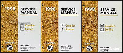 1998 Chevy Cavalier Pontiac Sunfire Shop Manual Set Repair Service ...