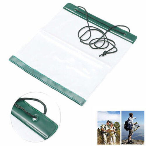 Waterproof Outdoor Camping Hiking Clear Map Covers Storage Case Dry Bag  OJ