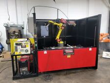 Fanuc Arcmate 0ia Lincoln 5 Robotic Welding Cell With Lincoln Powerwave R350