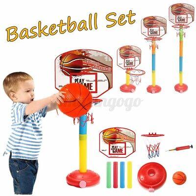 "Adjustable Up to 47/"" Kid Child Basketball Backboard Goal Hoop Stand Home Gift"