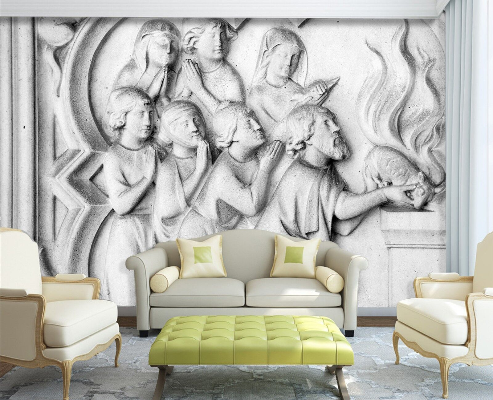 3D Christian And Animal 73 Wallpaper Mural Print Wall Indoor Wallpaper Murals UK