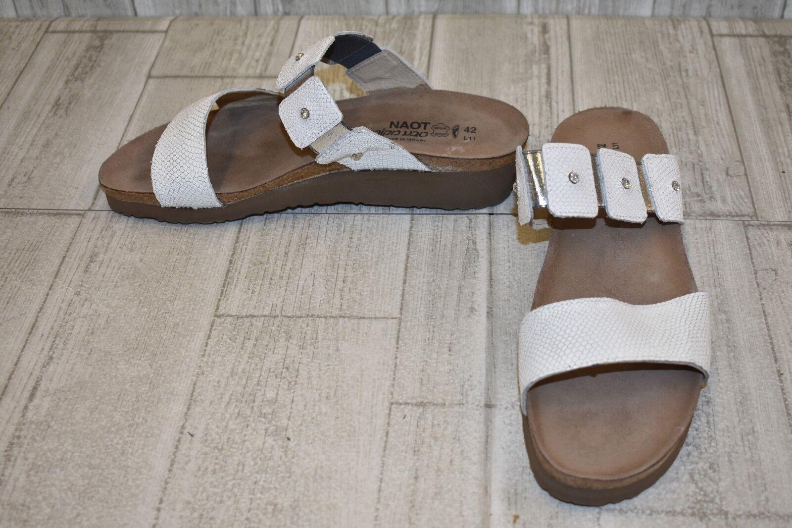 Naot Ashley Sandalia De Cuña-Para Cuña-Para Cuña-Para Mujer Talla 11, blancoo  tienda en linea