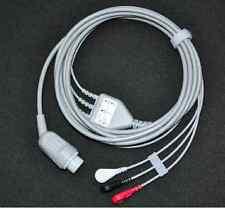 1pcs Hp Codemaster 100 3leads Ecg Cable Aha Snap 12pin Connector Compatible