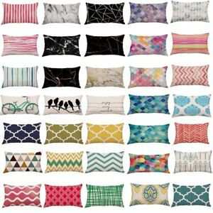 Multi-color-Rectangle-Pattern-Soft-Pillow-Case-Cushion-Cover-Sofa-Home-Car-Decor